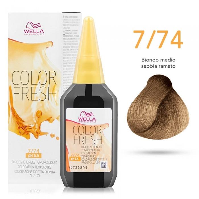 7 74 - Riflessanti Color Fresh - Wella. 7 74 - Riflessanti Color Fresh -  Wella. Colorazione diretta - Riflessante per capelli 71eb8ee47711