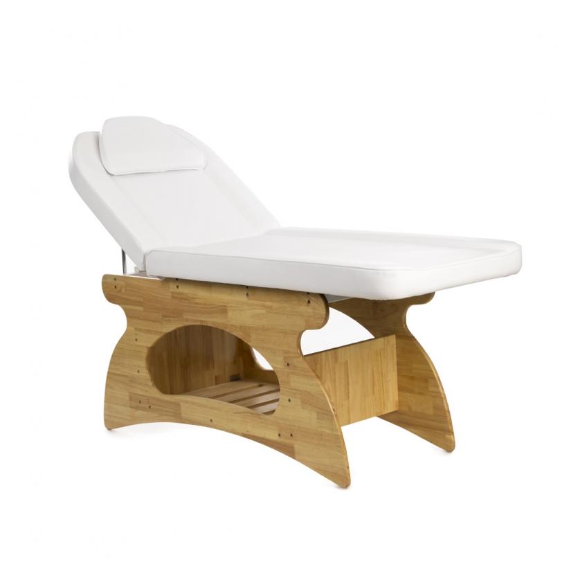 Base in legno, schienale regolabile.  Dibag